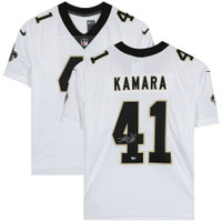 ALVIN KAMARA Autographed New Orleans Saints Nike White Limited Jersey FANATICS
