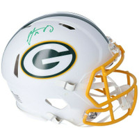 AARON RODGERS Autographed Green Bay Packers White Matte Speed Authentic Helmet FANATICS
