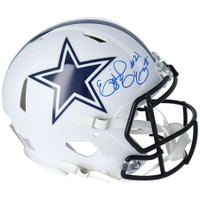 EZEKIEL ELLIOTT Autographed Dallas Cowboys White Matte Authentic Helmet FANATICS