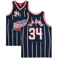 HAKEEM OLAJUWON Autographed Houston Rockets Blue Jersey FANATICS