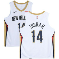 BRANDON INGRAM Autographed New Orleans Pelicans White Nike Swingman Jersey FANATICS
