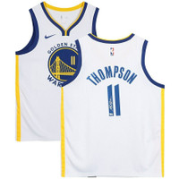 KLAY THOMPSON Autographed Golden State Warriors White Nike Jersey FANATICS