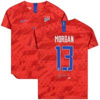 ALEX MORGAN Autographed National Team Red Nike 2019 Vapor Jersey FANATICS