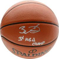 DWYANE WADE Autographed Miami Heat 3x NBA Champ Spalding Basketball FANATICS