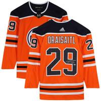LEON DRAISAITL Autographed Edmonton Oilers Adidas Authentic Jersey FANATICS