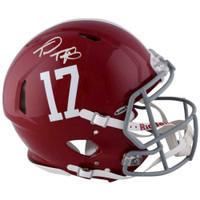 TUA TAGOVAILOA Autographed Alabama Crimson Tide Speed Authentic Helmet FANATICS