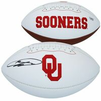 CEEDEE LAMB Autographed Oklahoma Sooners White Panel Football FANATICS
