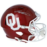 CEEDEE LAMB Autographed Oklahoma Sooners Full Size Speed Helmet FANATICS