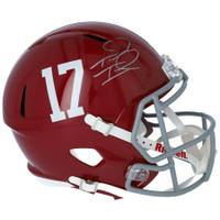 TUA TAGOVAILOA Autographed Alabama Crimson Tide Full Size Speed Helmet FANATICS