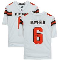 BAKER MAYFIELD Autographed Cleveland Browns Nike Limited White Jersey FANATICS