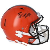 BAKER MAYFIELD Autographed Cleveland Browns Full Size Speed Helmet FANATICS