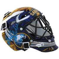 "DOMINIK HASEK Autographed ""HOF '14"" Buffalo Sabres Mini Goalie Mask FANATICS"