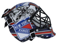HENRIK LUNDQVIST Autographed New York Rangers Mini Goalie Mask FANATICS