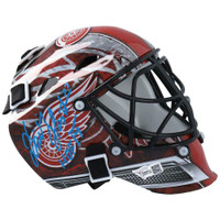 "DOMINIK HASEK Autographed ""HOF '14"" Detroit Red Wings Mini Goalie Mask FANATICS"
