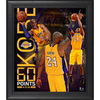 "KOBE BRYANT Los Angeles Lakers Framed 15"" x 17"" 60 Point Finale Collage"