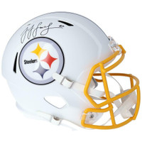 JuJu Smith-Schuster Autographed Pittsburgh Steelers White Matte Speed Full Size Helmet FANATICS