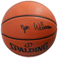 ZION WILLIAMSON Autographed (Black Ink) New Orleans Pelicans Spalding Basketball FANATICS
