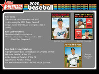 2020 TOPPS HERITAGE BASEBALL (Qty. 1) 24 Count Retail Box MIKE TROUT