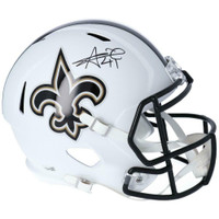 ALVIN KAMARA Autographed New Orleans Saints White Matte Full Size Speed Helmet FANATICS