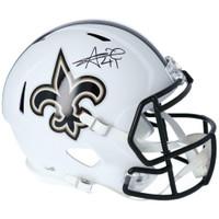 ALVIN KAMARA Autographed New Orleans Saints White Matte Full Size Speed Helmet FANATICS