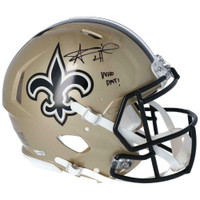 "ALVIN KAMARA Autographed ""Who Dat"" New Orleans Saints Authentic Speed Helmet FANATICS"