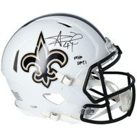 "ALVIN KAMARA Autographed New Orleans Saints ""Who Dat"" White Matte Authentic Speed Helmet FANATICS"