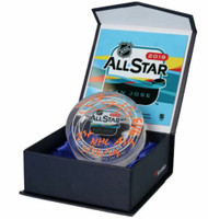"MATHEW BARZAL Autographed New York Islanders ""1st NHL ASG"" GU Ice Crystal Puck Display FANATICS LE"