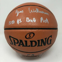 "ZION WILLIAMSON Autographed New Orleans Pelicans ""2019 #1 Draft Pick"" Spalding Basketball FANATICS"