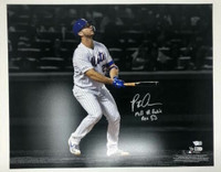 "PETE ALONSO Autographed New York Mets ""MLB HR Rookie Rec 53"" 16x20 Photograph FANATICS LE 1/53"