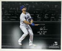 "PETE ALONSO Autographed New York Mets ""MLB HR Rookie Rec 53"" 16 x 20 Photograph FANATICS LE 53"