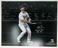 "PETE ALONSO Autographed New York Mets ""MLB HR Rookie Rec 53"" 16 x 20 Photograph FANATICS LE 53"