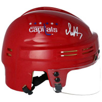 ALEX OVECHKIN Autographed Washington Capitals Mini Red Helmet FANATICS