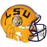 JOE BURROW Autographed LSU Tigers Authentic Yellow Speed Helmet FANATICS