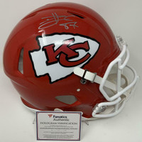 TRAVIS KELCE Autographed Kansas City Chiefs SB LIV Champs Authentic Speed Helmet FANATICS