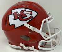 "TRAVIS KELCE Autographed Kansas City Chiefs ""SB LIV Champs"" Authentic Speed Helmet FANATICS"