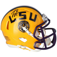 JOE BURROW Autographed LSU Tigers Yellow Speed Mini Helmet FANATICS