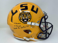 JOE BURROW Autographed / Inscribed LSU Tigers Authentic Speed Helmet FANATICS LE 1/19