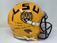 JOE BURROW Autographed / Inscribed LSU Tigers Authentic Speed Helmet FANATICS LE 9/19