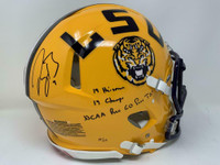 JOE BURROW Autographed / Inscribed LSU Tigers Authentic Speed Helmet FANATICS LE 19/19