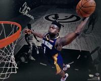 """ZION WILLIAMSON Autographed New Orleans Pelicans """"Dunk"""" 16"""" x 20"""" Photograph FANATICS"""