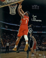 "ZION WILLIAMSON Autographed New Orleans Pelicans ""Debut"" 16"" x 20"" Photograph FANATICS"
