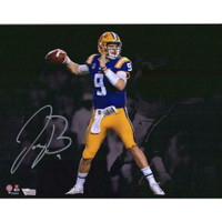 "JOE BURROW Autographed LSU Tigers 11"" x 14"" Spotlight Photograph FANATICS"