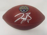 JOE BURROW Autographed LSU Tigers Nike Game Model Football FANATICS
