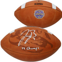"JOE BURROW Autographed LSU Tigers ""19 Champs"" Commemorative Football FANATICS"