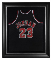 """MICHAEL JORDAN Autographed Chicago Bulls """"2009 HOF"""" Authentic Alt. Black Jersey UDA LE 75/123"""