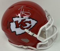 TYREEK HILL Autographed Kansas City Chiefs Super Bowl Logo Mini Speed Helmet FANATICS