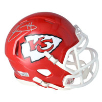 SAMMY WATKINS Autographed Kansas City Chiefs Super Bowl Logo Mini Speed Helmet FANATICS