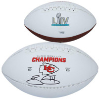 SAMMY WATKINS Autographed Kansas City Chiefs Super Bowl White Panel Football FANATICS