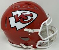 PATRICK MAHOMES Autographed Kansas City Chiefs SB Logo Authentic Speed Helmet FANATICS