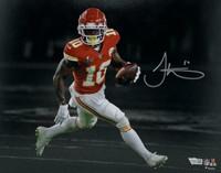 TYREEK HILL Autographed Kansas City Chiefs Super Bowl 11 x 14 Spotlight Photograph FANATICS